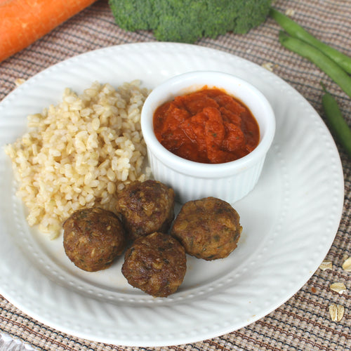 hidden veg Mighty Meatballs with Brown Rice and Magic Marinara