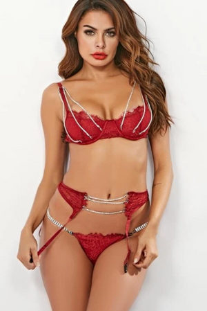 'Burgundy Fire' Lingerie