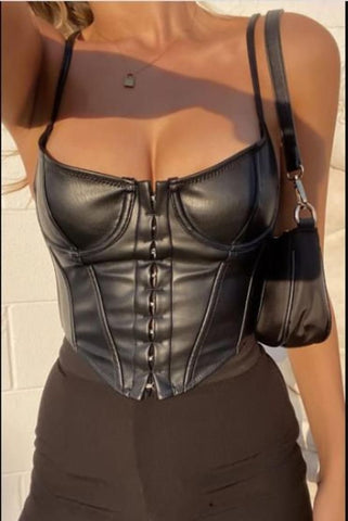 Image of 'Leather Queen' Corset