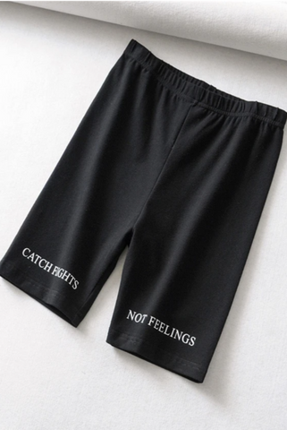 Image of 'Catch Flights Not Feelings' Cycling Shorts