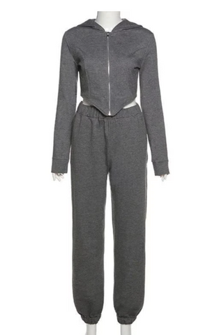 Image of Grey 'Diva' Tracksuit