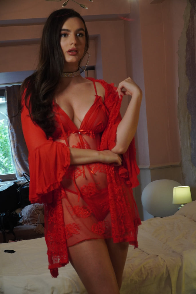 'Red Passion' Lingerie