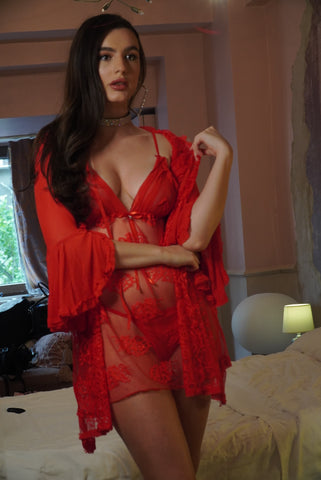 Image of 'Red Passion' Lingerie