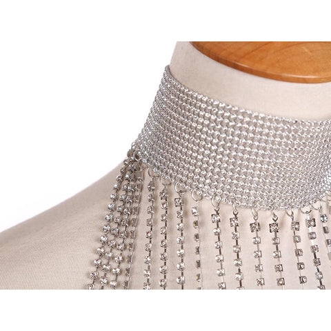 Image of Rhinestone Scarf - Body Chain