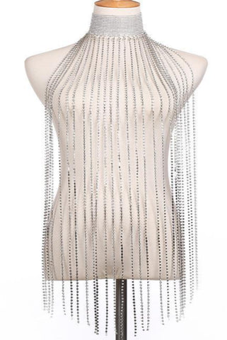 Rhinestone Scarf - Body Chain