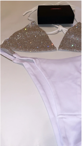 Image of Luxury 'White Diamond' Bikini