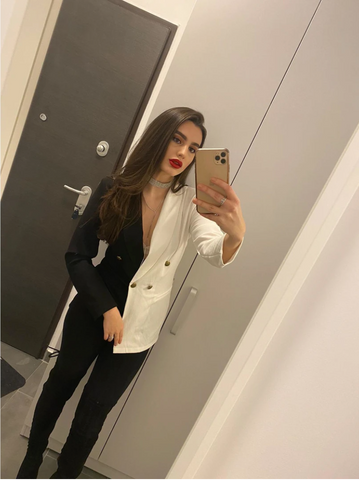 'Black & White' Blazer