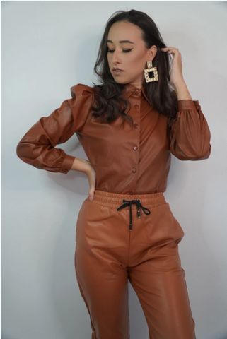 'Brown Leather' Shirt