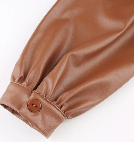 Image of 'Brown Leather' Shirt