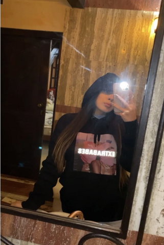 Image of Reflective Hoodie 'Not Your Bae'
