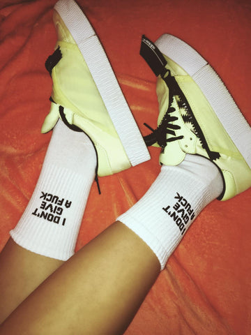 """I Don't Give A Fuck"" Socks"