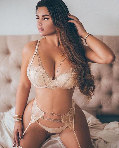 'Beige Love' Lingerie Set