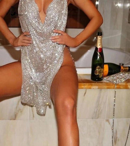 Bad n' Boujee Rhinestone Mini Dress