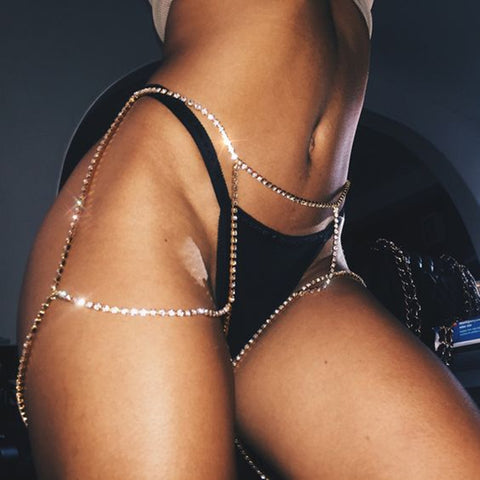 Image of 'Feelin Myself' Leg Chain