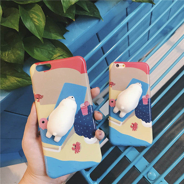 Polar Bear - Squishy Phone Case