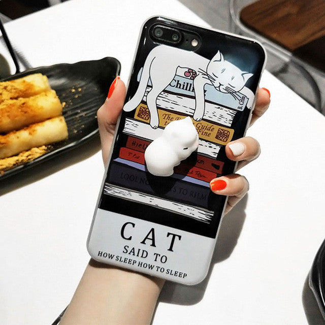 Book Cat - Squishy Phone Case