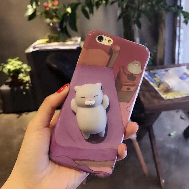 Grey Cat - Squishy Phone Case