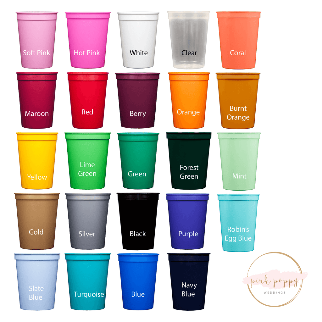 Fancy Monogram Personalized Stadium Cups