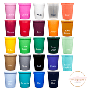 Stadium Cups - Adventure With You Wedding Stadium Cups