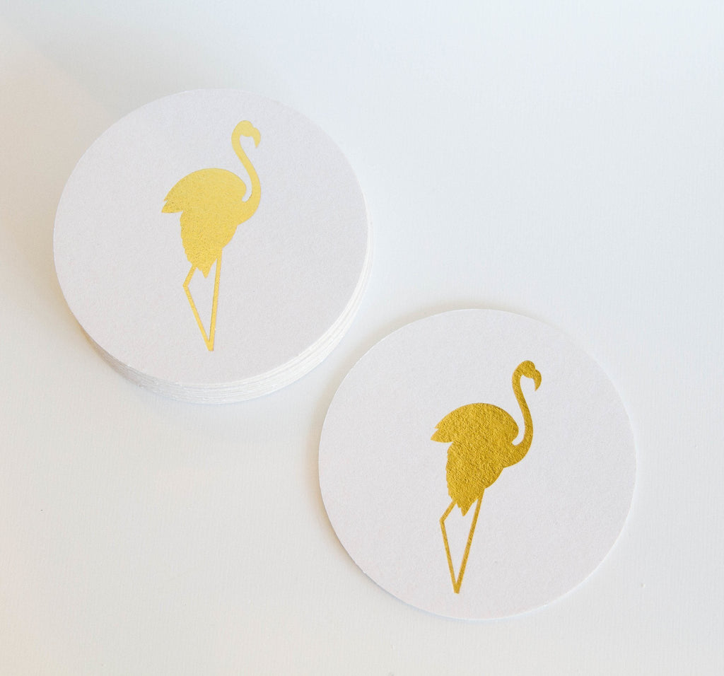 Flamingo Coasters - Set of 10 - Ready To Ship -   - Pink Poppy Party Shoppe - 1