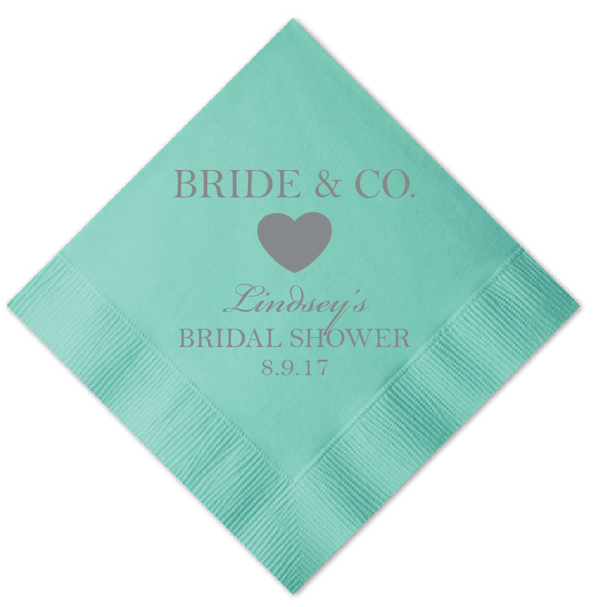 Bride and Co Personalized Bridal Shower Napkins -   - Pink Poppy Party Shoppe - 1