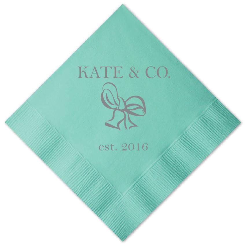 Personalized Bridal Shower Napkin - Bride And Co Personalized Bridal Shower Napkins