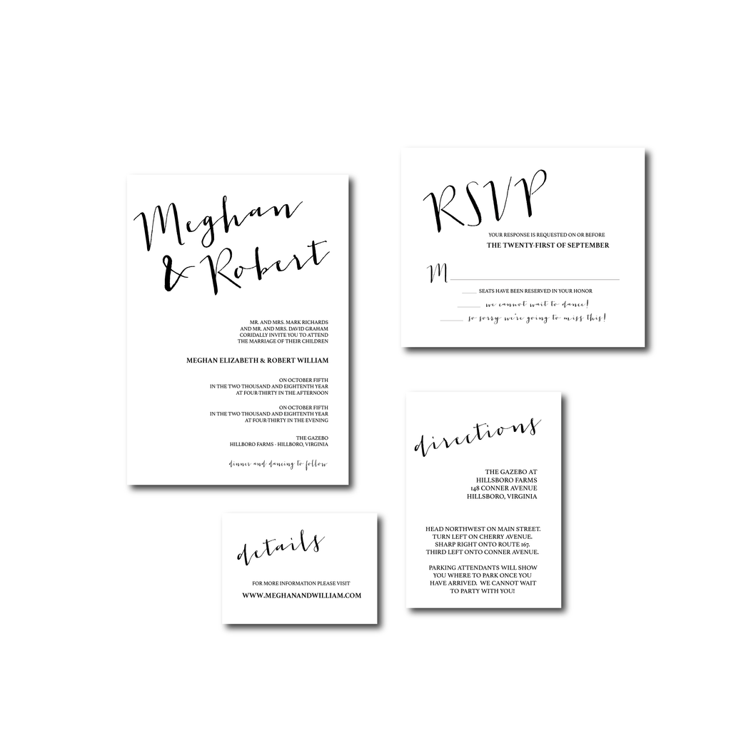 Invitation | The Carrie Wedding Collection