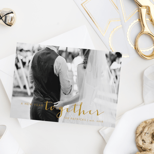 Christmas Cards - A New Year Together Newlywed Photo Christmas Cards