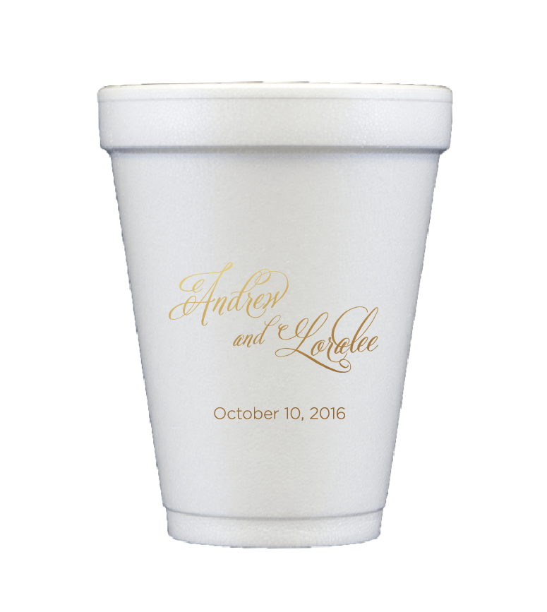 Personalized Wedding Cup - Personalized Foam Cups | Ella Wedding Collection