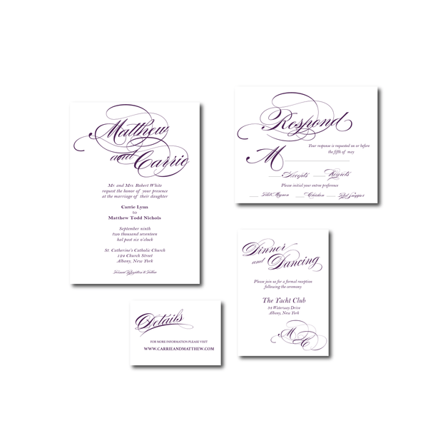 Invitation | The Diana Wedding Collection