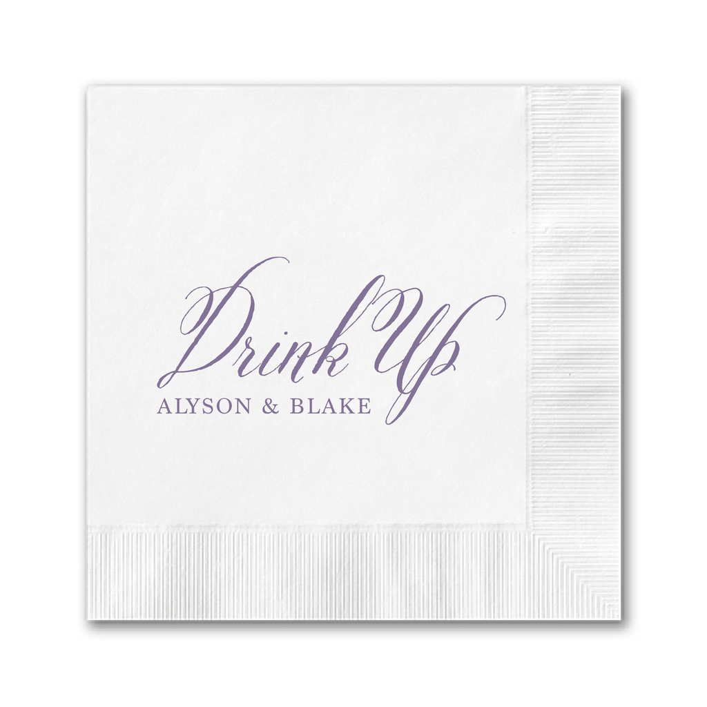 Drink Up Wedding Napkins