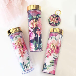 Bridal Party Gifts - Floral Tumbler