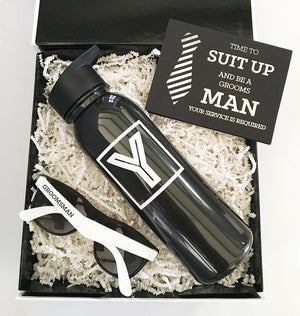 Wedding Proposal Gifts & Favors - Black Sports Bottles