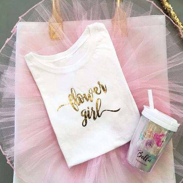 Bridal Party Gifts - Flower Girl T-shirt