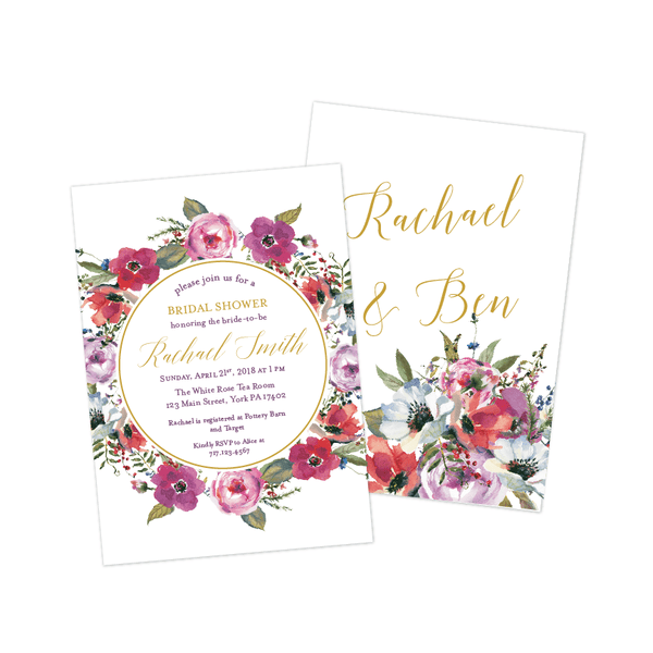Bridal Shower Invitation | Enchanted Forest Floral