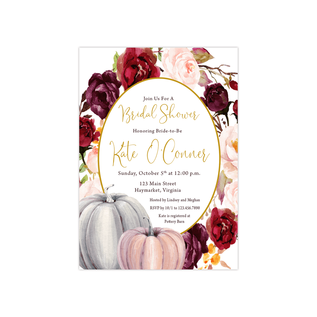 Bridal Shower Invitation | Fall Floral
