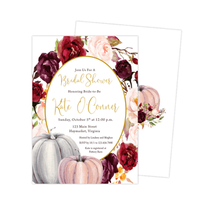 Bridal Shower Invitation - Bridal Shower Invitation | Fall Floral