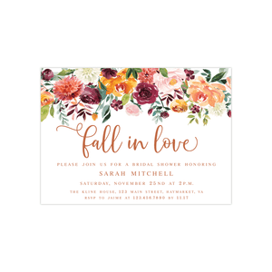 Bridal Shower Invitation - Bridal Shower Invitation | Fall In Love