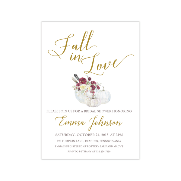 Bridal Shower Invitation | Fall in Love