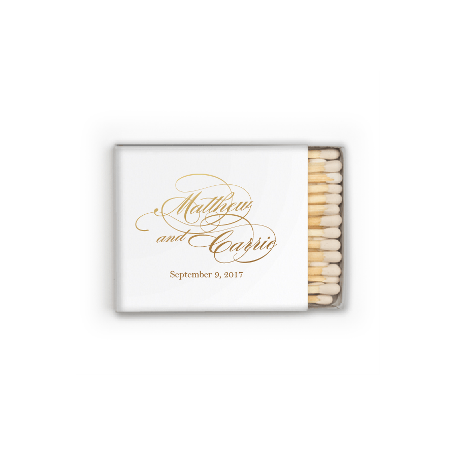 Matchbooks - Personalized Matchbooks | Diana Wedding Collection