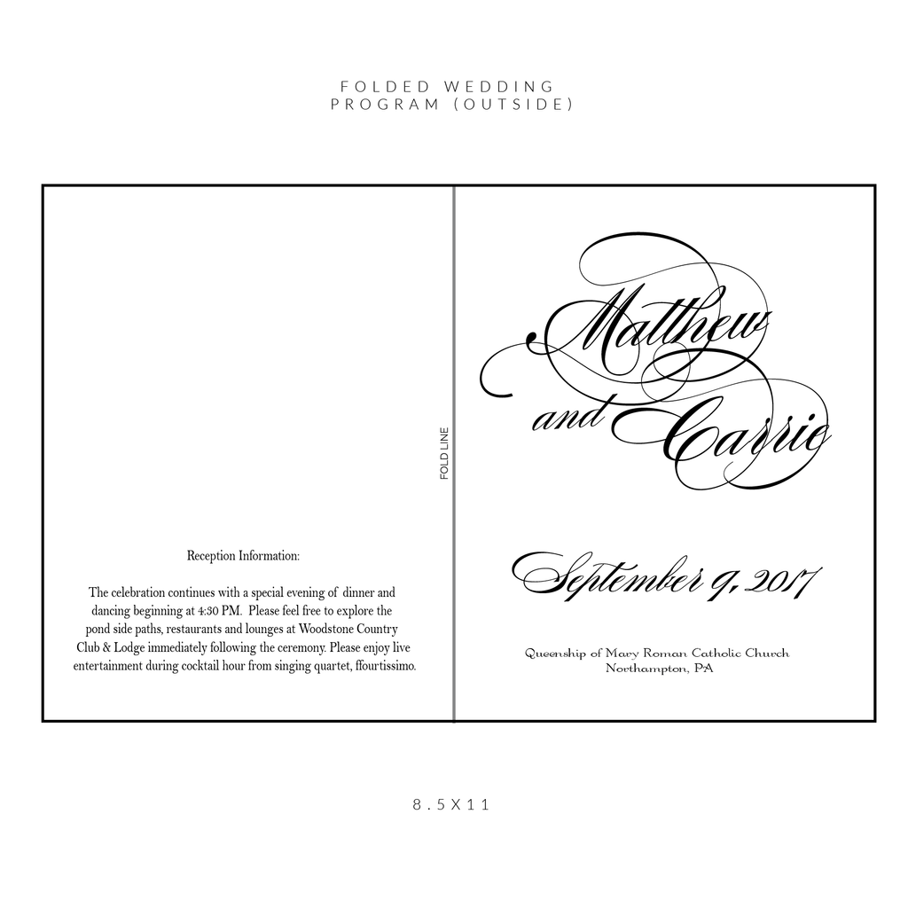 Ceremony Programs | The Diana Wedding Collection