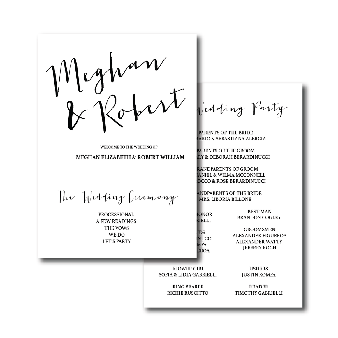 Ceremony Program - Ceremony Programs (Flat) | The Carrie Wedding Collection