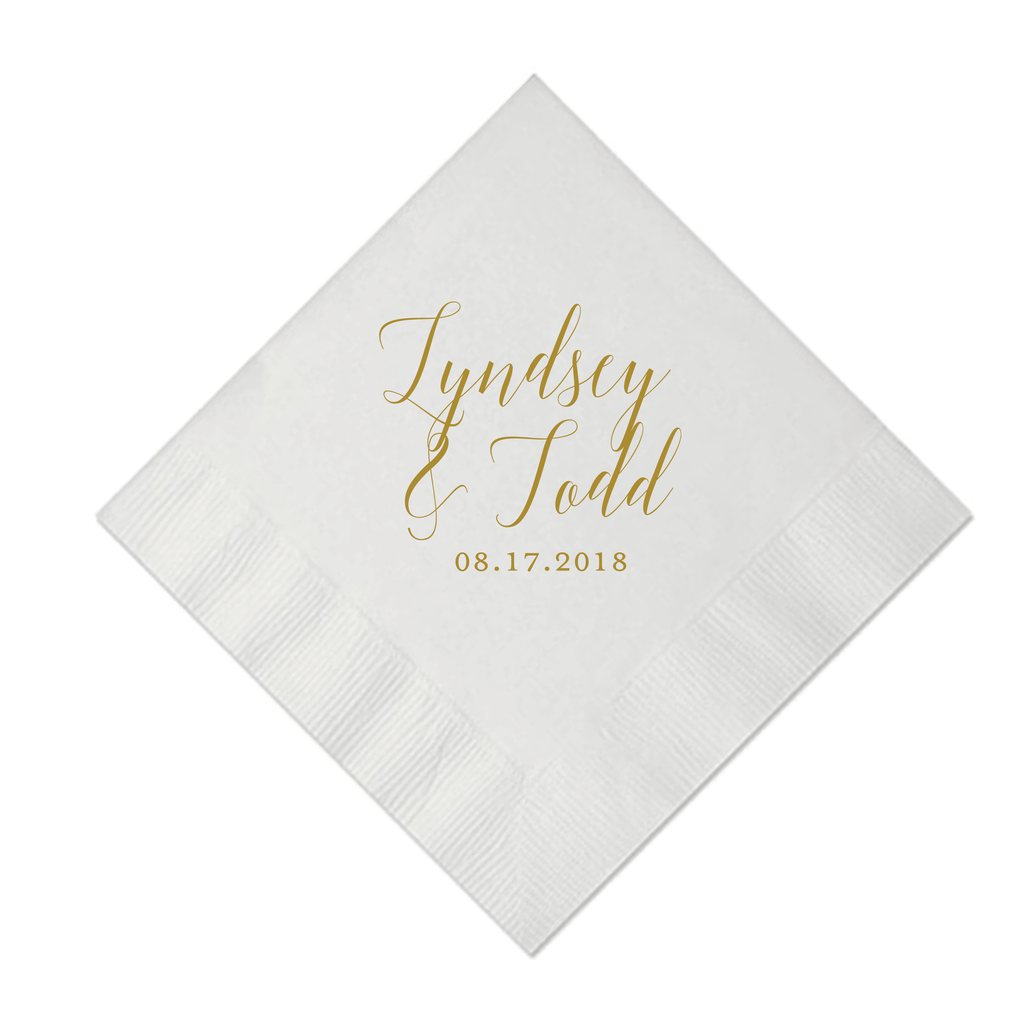First Name Personalized Wedding Napkins