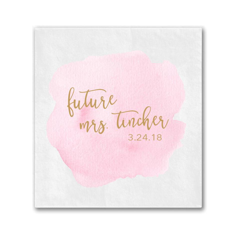 Future Mrs Watercolor Bridal Shower Napkins