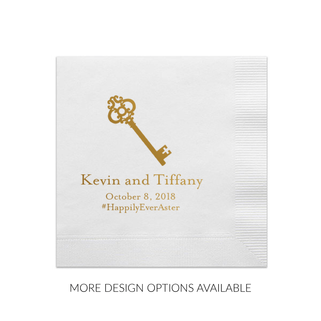 Icon Personalized Wedding Napkins