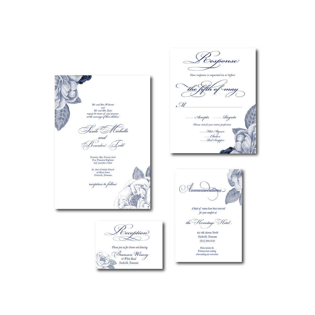 Floral Invitation | The Julia Wedding Collection