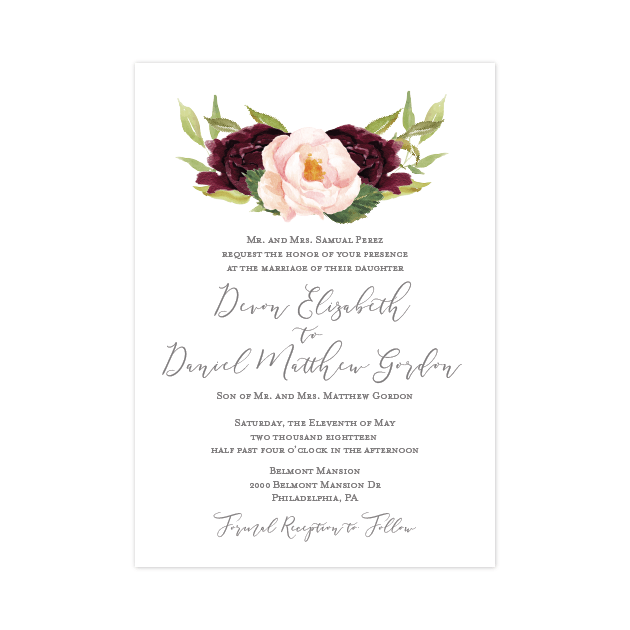 Invitation | The Devon Wedding Collection
