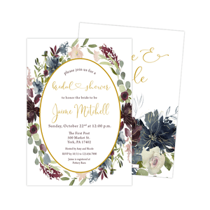 Bridal Shower Invitation - Bridal Shower Invitation | Moody Floral
