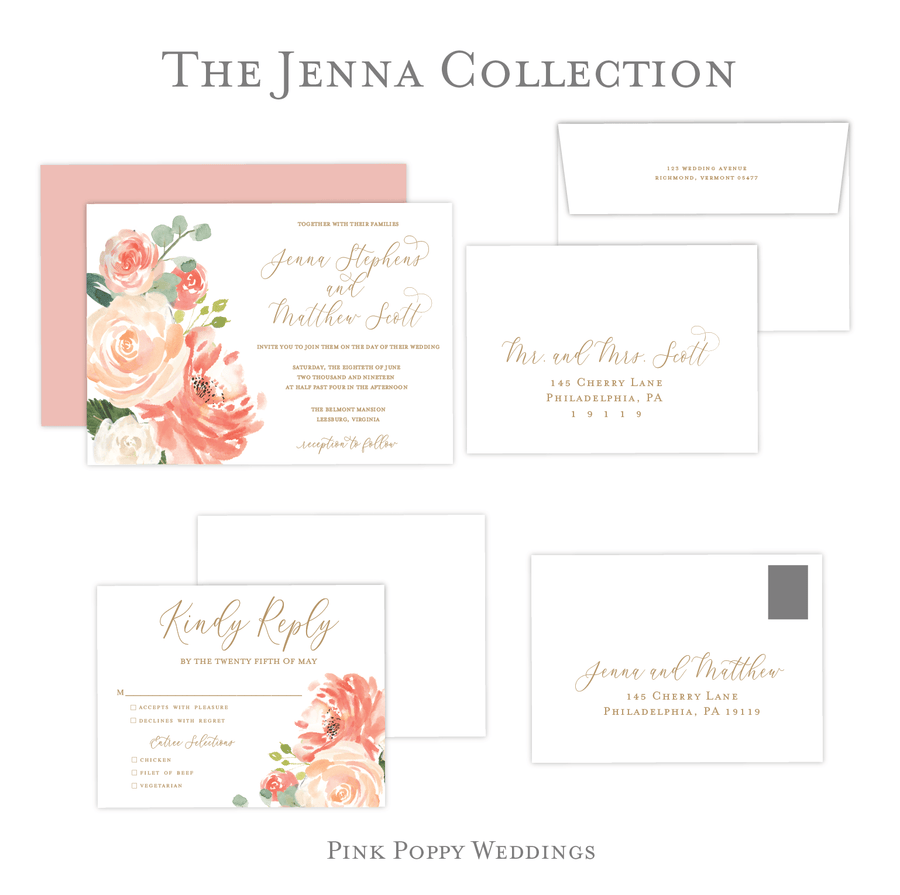 Wedding Invitation - Invitation | The Jenna Wedding Collection