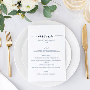 Menu Card - Menu Card | The Rory Wedding Collection